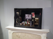 "34"" x 24"" (86cmx61cm) Large Black Framed Modern Wall Mirror Beautiful Design Ornate Shabby Chic Over Mantle Big Wall Mirror"