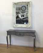 Cream Ornate French Frame Wall / Over Mantle Mirror