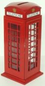 Die Cast Metal Red Telephone Box Money Bank