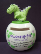 Dino Mates (Dinosaur) Money Jar ~ Money Box ~OWEN