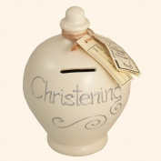 Authentic Terramundi Money Pot - Christening in Silver (S45).