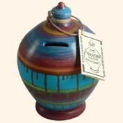 Terramundi Money Pot - Multi-coloured slipware