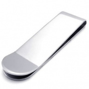 Konov Jewellery High Quality Stainless Steel Mens Money Clip, Colour Silver
