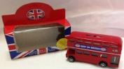 Elgate Red 11 Cm Souvenier Die Cast Metal Bus Money Bank Red 11 cm