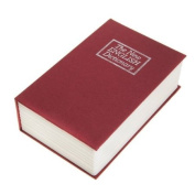 NEW RED ENGLISH DICTIONARY SECRET BOOK SAFE MONEY BOX JEWELLERY SECURITY LOCK