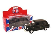 Die Cast Replica Black Taxi - Pull-Back Action