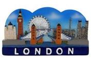 Elgate London City Scene Magnets Blue