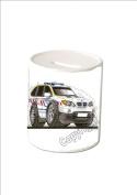 Koolart Ceramic Money Box Piggy Bank Police BMW X5