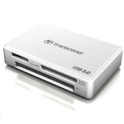 Transcend Portable USB 3.0 External Multi-Card Reader, WHITE,Supports SD/MMC/CF/MicroSD/SDHC/MS/MS