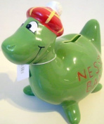 Scottish gift's - Souvenir Nessie Green Tartan Hat Money Box / Bank - uk gift's