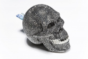 Kare Skull Crystal Money Bank, Silver