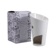 Ashleigh & Burwood - White Ceramic Oil Burner / Wax Tart Warmer - Ideal For Use With Little Hotties - Bomb Cosmetics