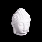 Buddha Oil Burner 14cm White - for fragrance oils, simmering granules