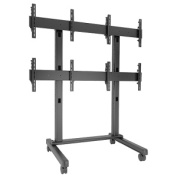 Chief - FUSION 2 x 2 Micro-Adjustable Large Freestanding Video Wall Cart