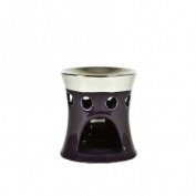Landon Tyler Oil Burner, Purple/ Silver