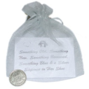 Lucky Sixpence For the bride in Organza bag