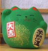 Maneki Neko Feng Shui Lucky green cat for success in education