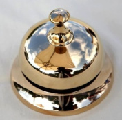 Traditional style brass reception bell