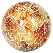 Glass Mosaic Ball in Orange