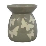 Tonal Oil Burner Butterfly Design - Dark Tone Neutral Shades Beige Grey