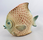 Colourful Angel Fish Ceramic - Fair trade and handmade in Mexico - Indoor or outdoor use L12xH10cm