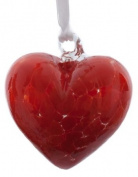 Small Red Handmade Recycled Glass Ornamental Friendship Heart