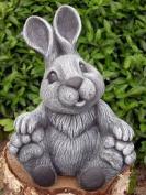 Garden ornament Rabbit, Cast stone, Slate grey