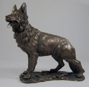 Large Bronze Sculpture German Shepherd Alsatian Dog Gsd