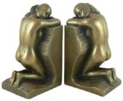 Art Deco SOLITUDE Bronzed Bookends by O.Tupton Unusual Gift