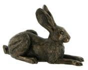 Lying Down Bronze Hare Sculpture Violet Harriet Glen