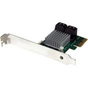4 Port PCI Express SATA III 6Gbps RAID Controller Card with Heatsink