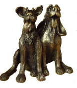 'Tom and Fred' Dog Sculpture in bronze by Harriet Dunn