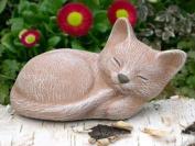 Garden ornamental Figure - Small Cat sleeping, Cast stone, Terracotta