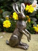 Sitting Bronze Hare Sculpture Poppy Harriet Glen