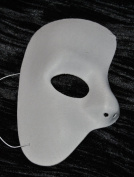 Phantom of the Opera Masquarade Mask White Half Mask