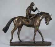 On Parade Race Horse & Jockey Bronze By David Geenty