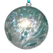 Hanging Glass Friendship Ball 10cm diameter , Pale Blue