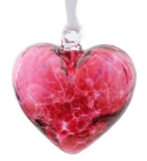 Small Pink Handmade Recycled Glass Ornamental Friendship Heart