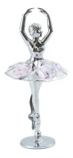 CRYSTOCRAFT Chrome Plated Ballerina With. Crystals