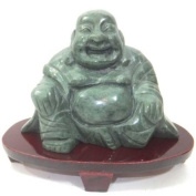 Chinese Jade Buddha 12cm Tall with Stand