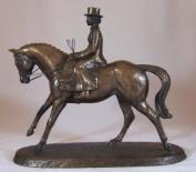 Bronze Finish Horse Figurine - Side Saddle By Harriet Glen