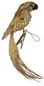Caspari Entertaining with Caspari Parrot Clip Ornament, Gold