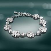 Newbridge Silverware - Maureen O'Hara Clear Stone Bracelet