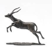 """Jonathan Sanders """"Leaping Impala"""" Handmade Solid Foundry Cast Bronze Sculpture by Nelson & Forbes"""