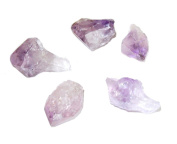 5 Small Natural Unpolished Amethyst Points