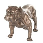 BRONZE BRITISH BULLDOG STATUE BULL DOG SCULPTURE ORNAMENT NEW