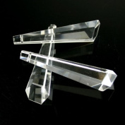 60mm MEC Icicle Crystal Prism Of CHANDELIER LAMP (clear) 10pcs