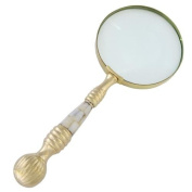 Antique Look 10cm Magnifying Glass Gold Ball End Handle