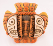 Ceramic Triple Mask - Fair trade in Mexico - Indoor or outdoor use L15xH15cm
