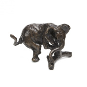 """Jonathan Sanders """"Playing Elephant"""" Handmade Solid Foundry Cast Bronze Sculpture by Nelson & Forbes"""